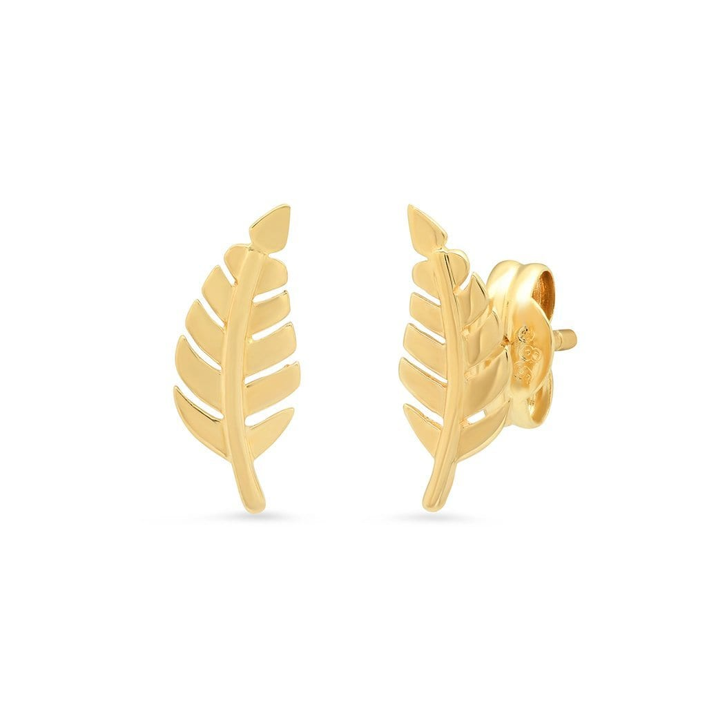 Vincents Fine Jewelry | TAI Jewelry | Gold Leaf Studs