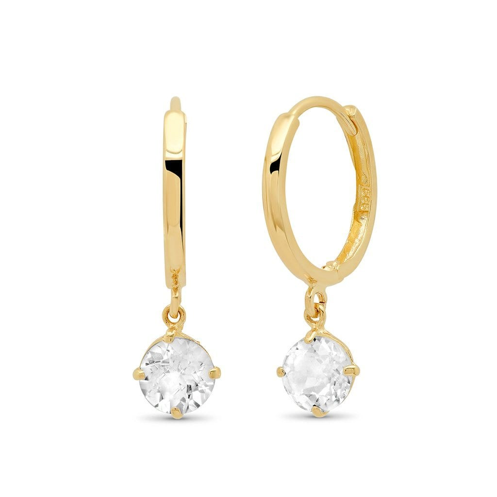 Vincents Fine Jewelry | TAI Jewelry | Huggie With White Topaz Drops