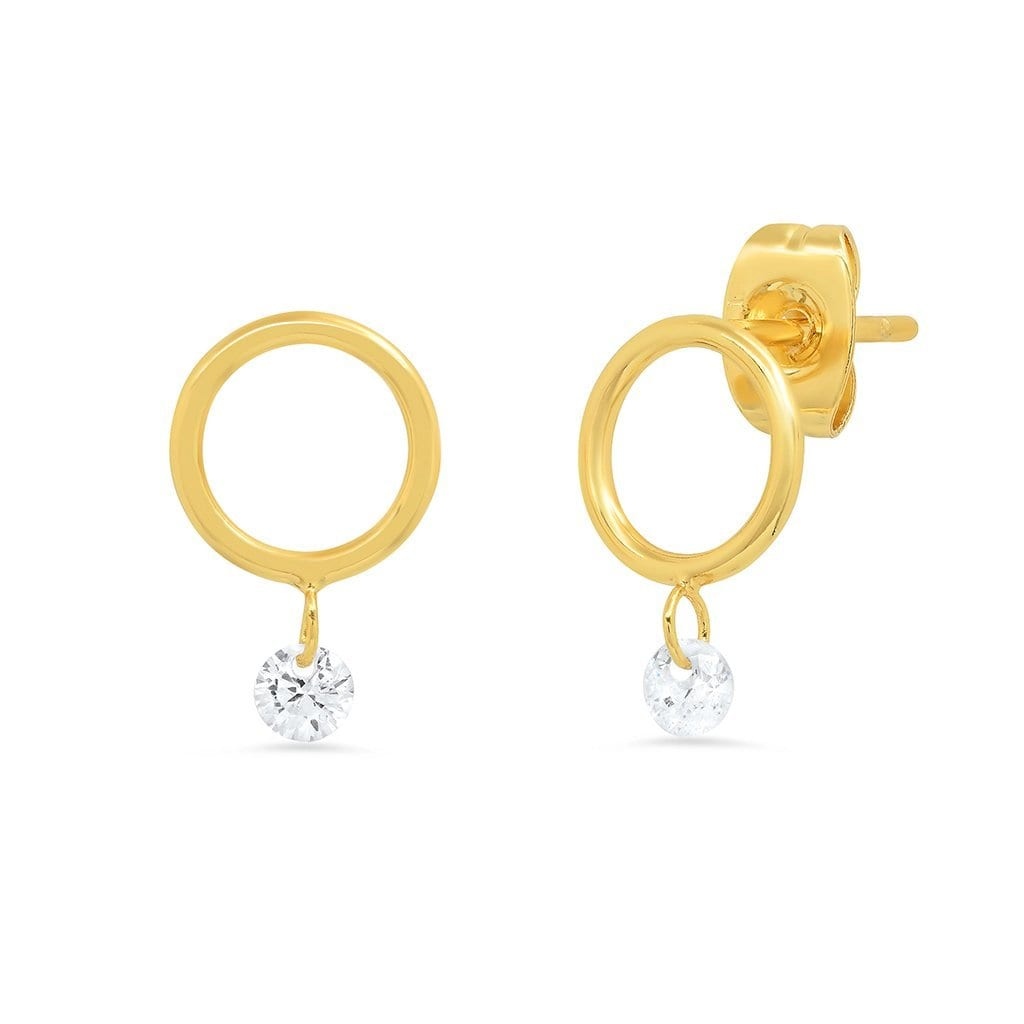 Vincents Fine Jewelry | TAI Jewelry | Circle CZ studs