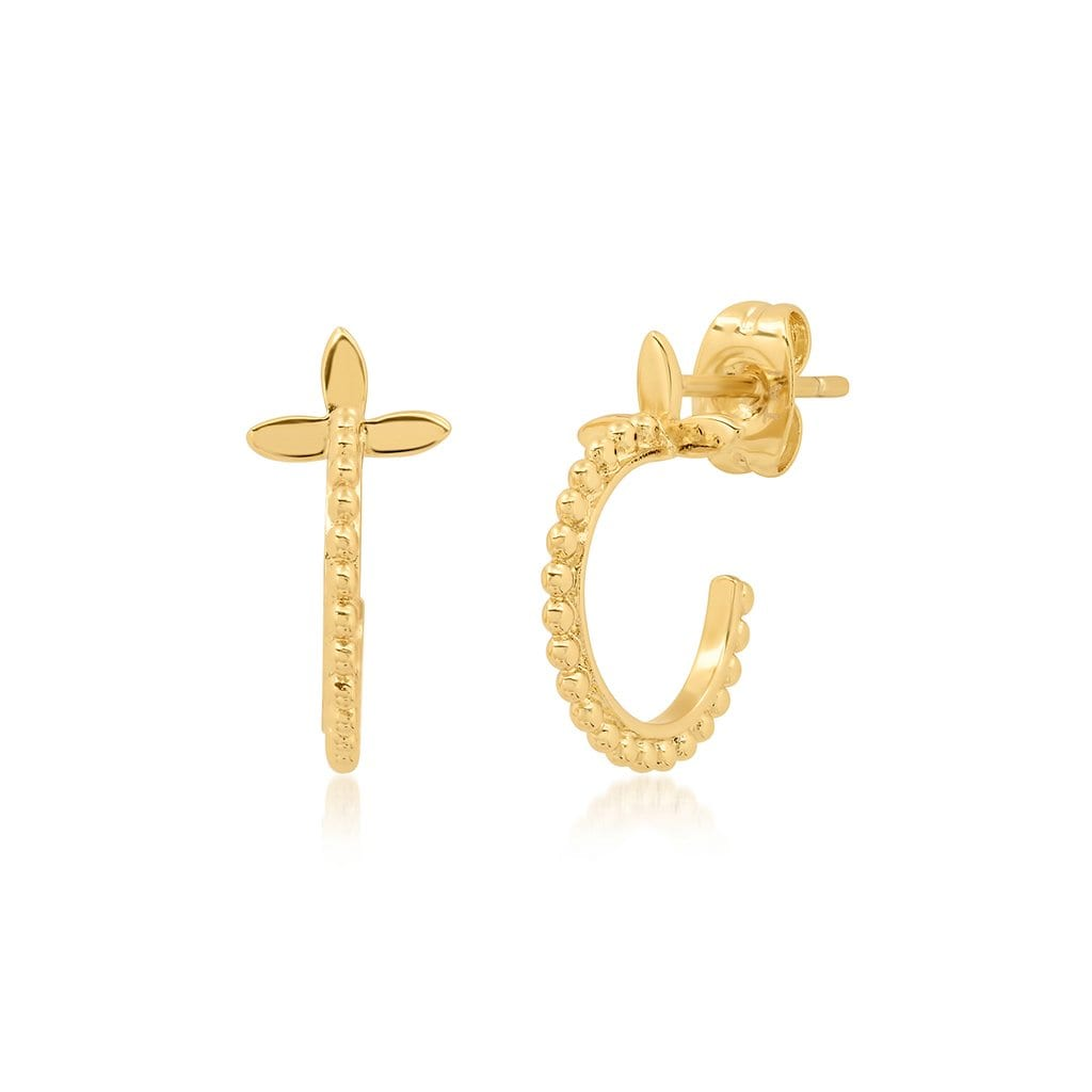 Vincents Fine Jewelry | TAI Jewelry | Knotted hoop petal studs