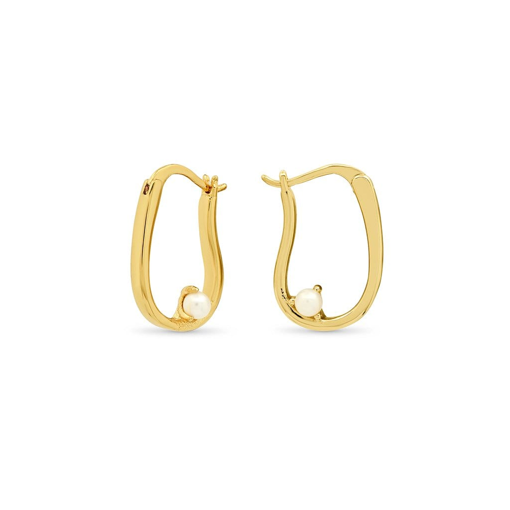 Vincents Fine Jewelry | TAI Jewelry | Irregular shaped hoop pearl earrings