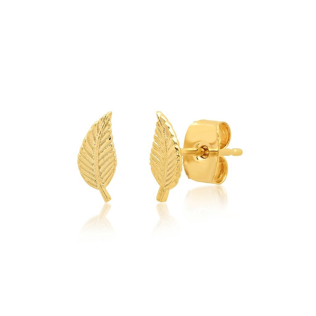 Vincents Fine Jewelry | TAI Jewelry | Leaf studs
