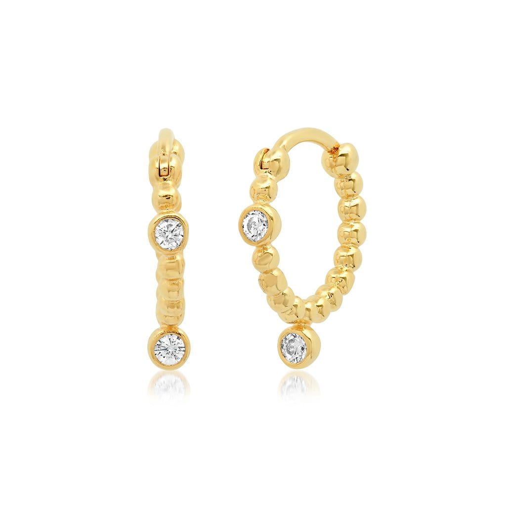 Vincents Fine Jewelry | TAI Jewelry | Mini seed CZ huggies