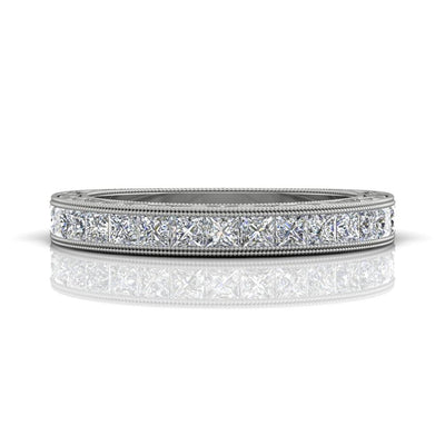 Vincents Fine Jewelry | Martin Flyer | Channel Hand Engraved Matching Wedding Band