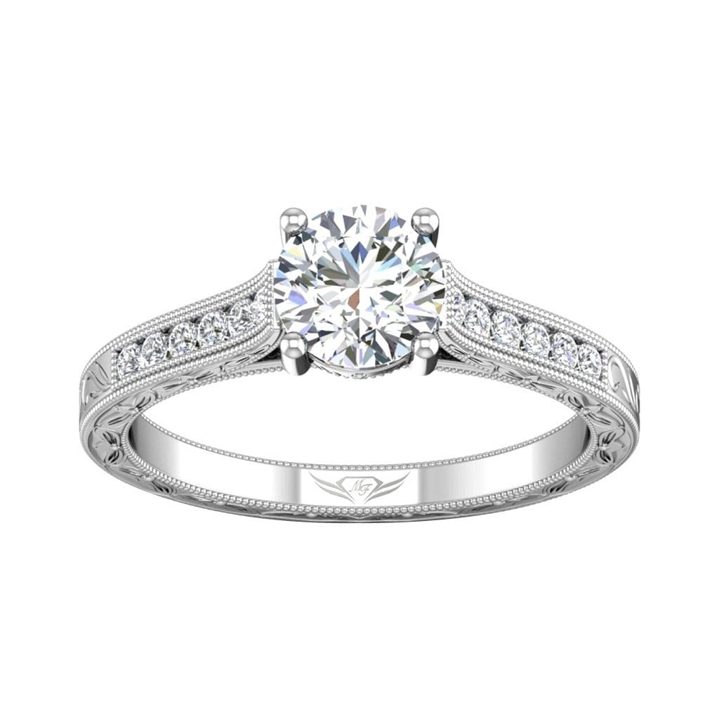 Vincents Fine Jewelry | Martin Flyer | Channel Hand Engraved Engagement Ring