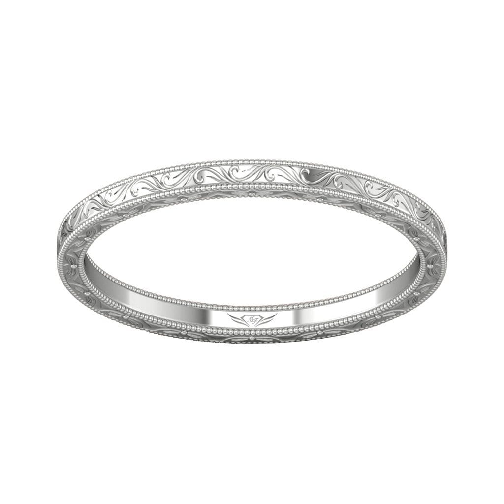 Vincents Fine Jewelry | Martin Flyer | Solitaire Hand Engraved Matching Wedding Band