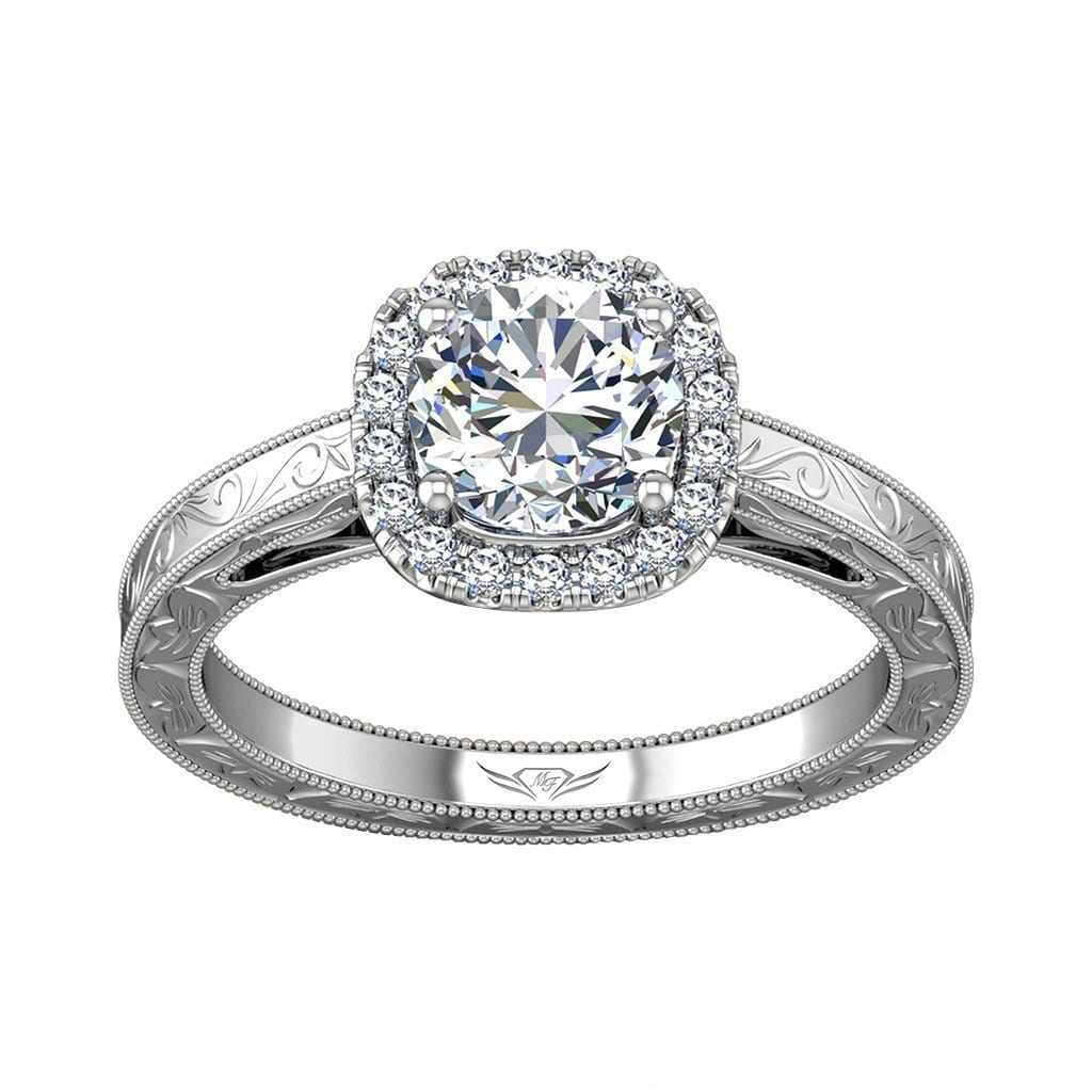 Vincents Fine Jewelry | Martin Flyer | Solitaire Hand Engraved Engagement Ring