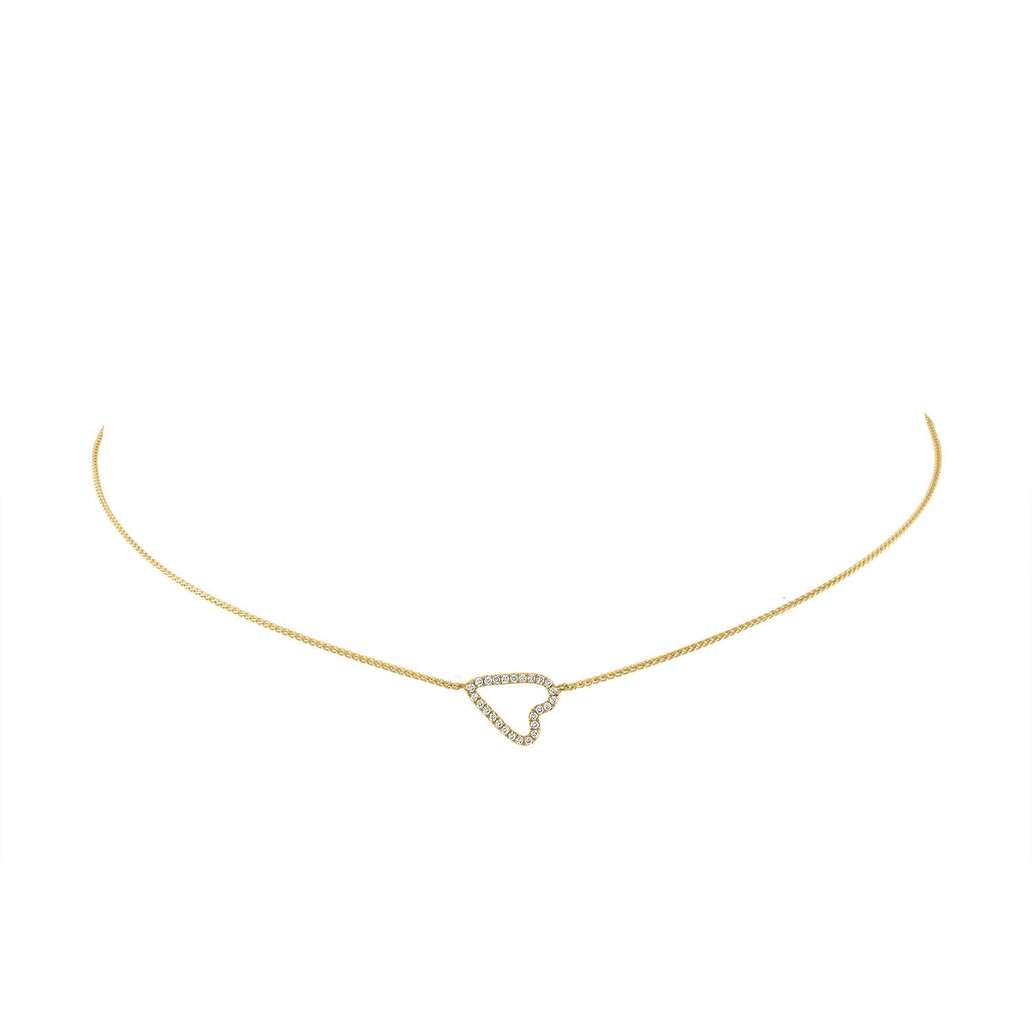 Vincents Fine Jewelry | Jane Kaye | Sideways Pave Heart Necklace