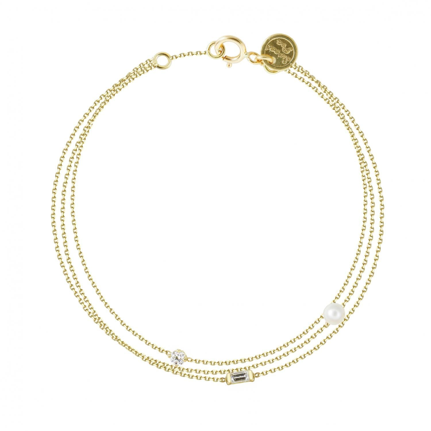 Vincents Fine Jewelry | Sweet Pea | 3 Strand Chain Bracelet