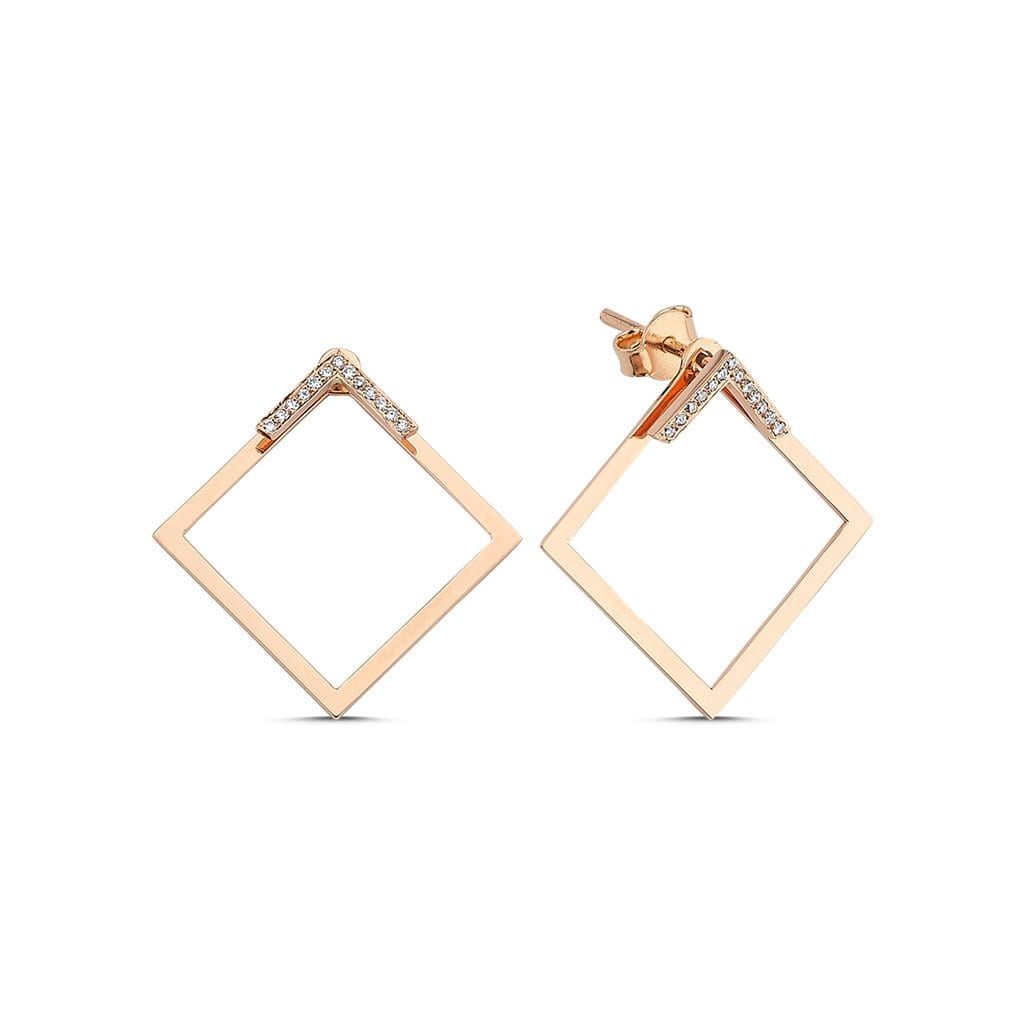 Vincents Fine Jewelry | Own Your Story | Square Diamond Earrings