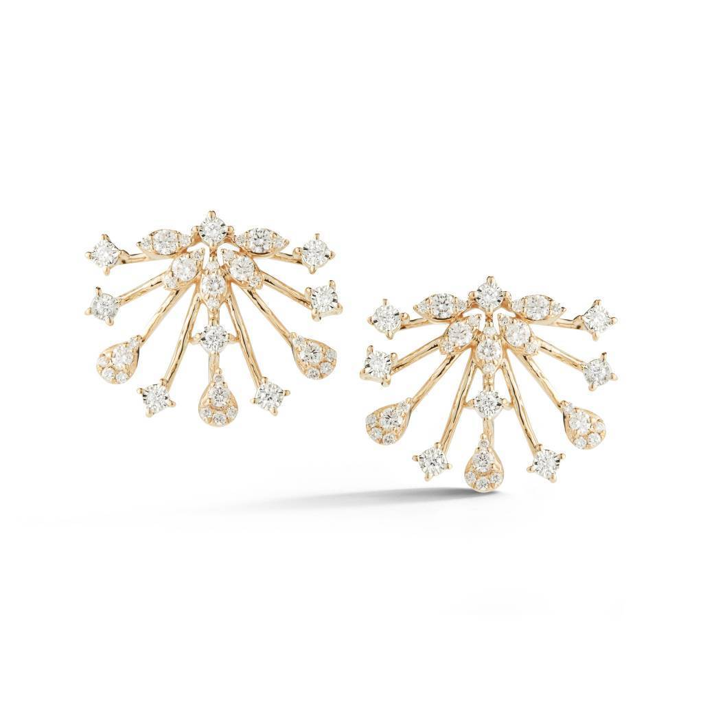 Vincents Fine Jewelry | Dana Rebecca Designs | Sophia Ryan Sunburst Diamond Earrings