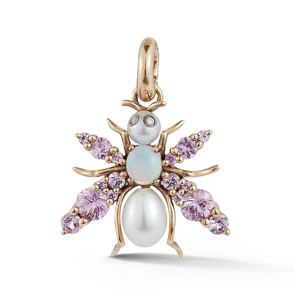 Vincents Fine Jewelry | Storrow Jewelry | Bee Pearl & Sapphire Charm