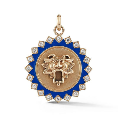 Vincents Fine Jewelry | Storrow Jewelry | Blue Guardian Lion Medallion