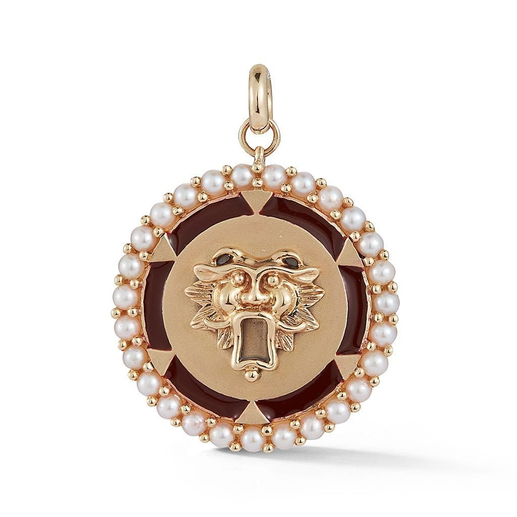 Vincents Fine Jewelry | Storrow Jewelry | Red Guardian Lion Medallion