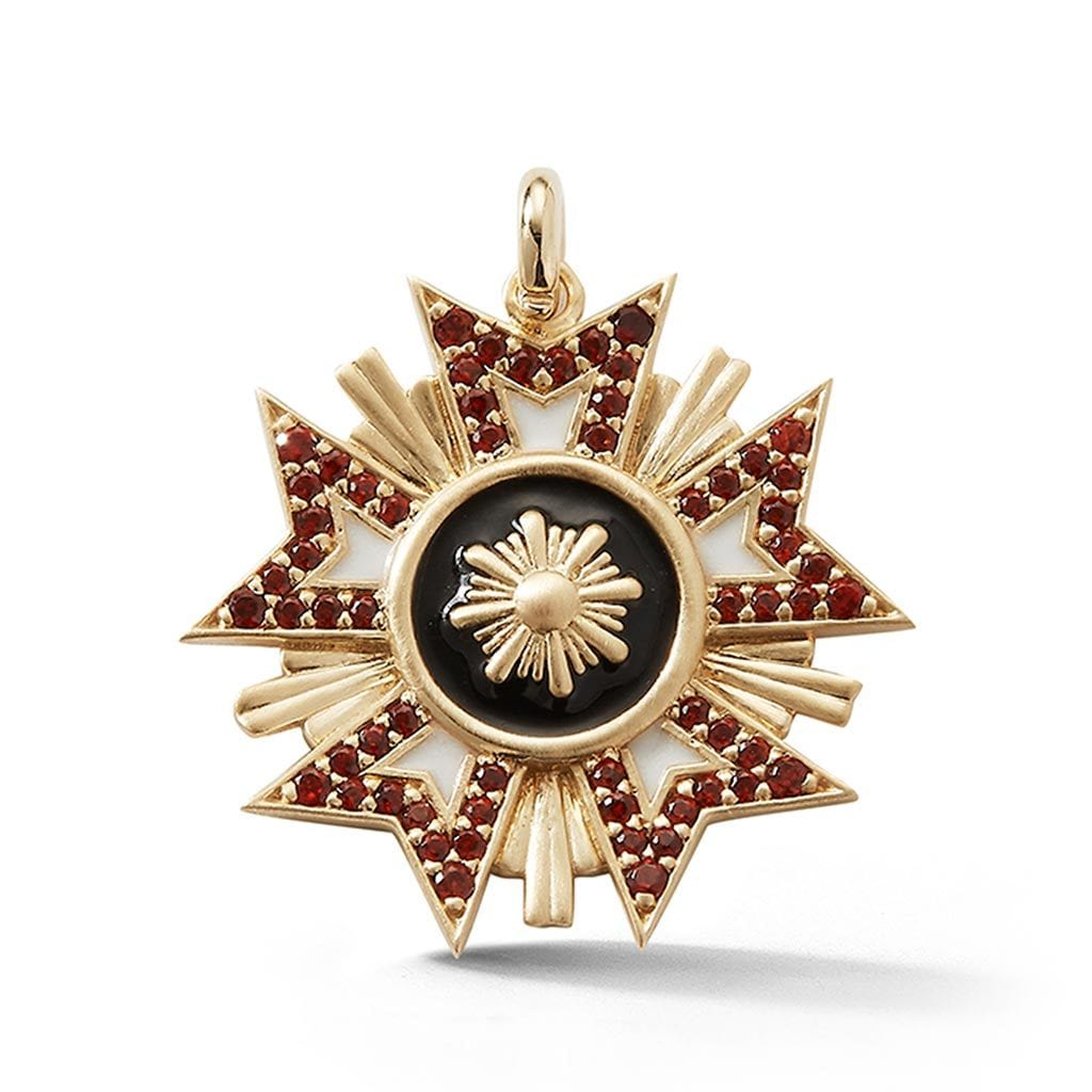 Vincents Fine Jewelry | Storrow Jewelry | Red Military Emblem Charm