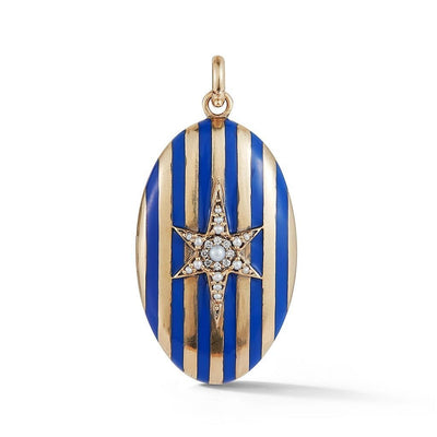 Vincents Fine Jewelry | Storrow Jewelry | Striped Star Locket