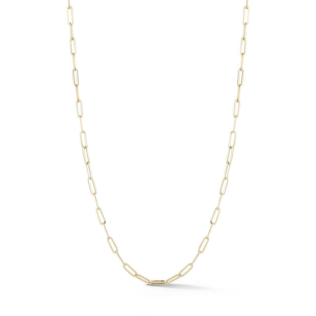 Long Link Chain Necklace: 24""