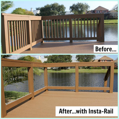 Dolle Insta-Rail Vertical Cable Railing Deck Inserts