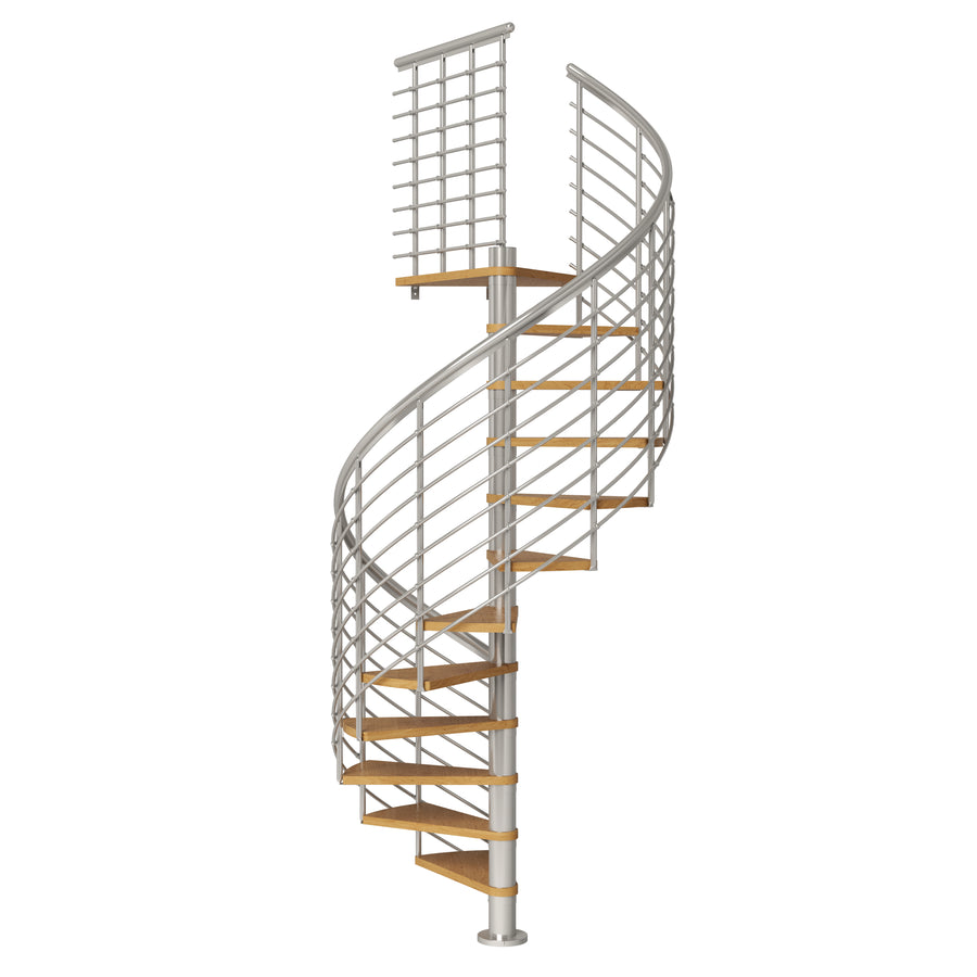 "63"" Montreal Style Spiral Staircase Kit - Grey"