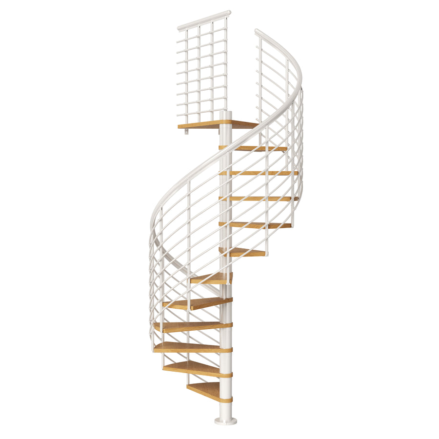 "47"" Montreal Style Spiral Staircase Kit - White"