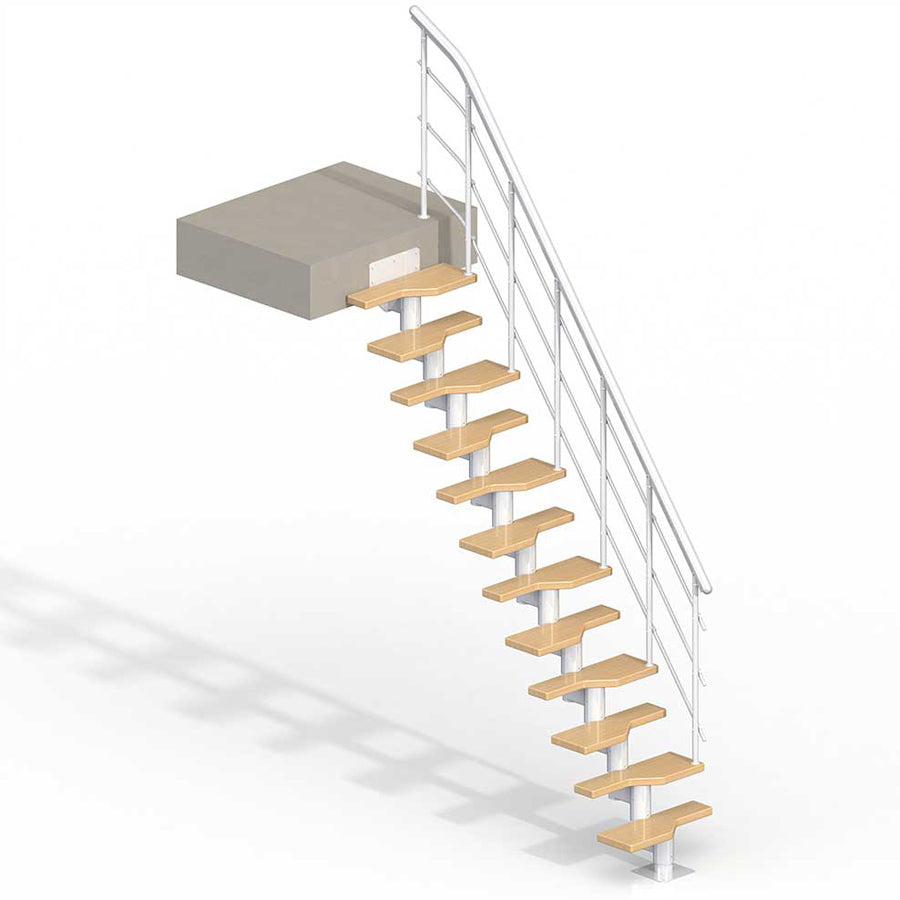 Lugano Modular Staircase Kit - White