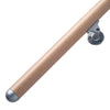 "Prova Unfinished Beech Wood 79"" long handrail kit"