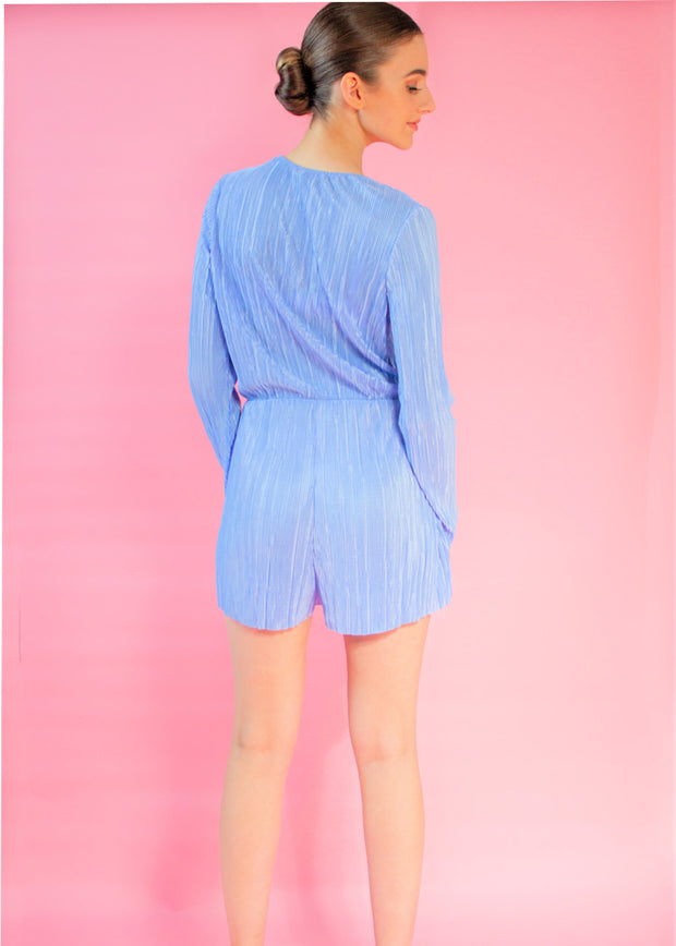 Pleated Wrap Front Playsuit