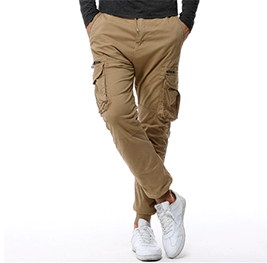 Casual Cotton Pants. Color  Khaki