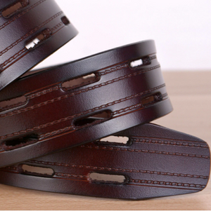 Leather Belt for Men. Color black