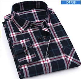 Flannel Shirt 100% Cotton Long Sleeve Color DTF38