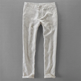 Linen casual pants for men. Color Linen color