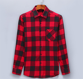 Flannel Shirt 100% Cotton Long Sleeve Color DTF23
