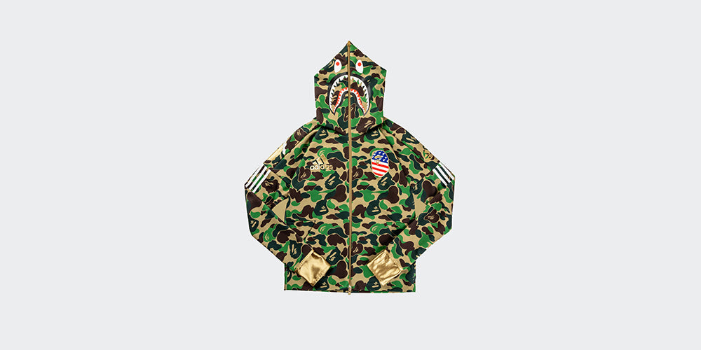 100% authentic popular stores really cheap Adidas Shark Hoodie x Bathing Ape