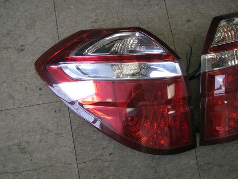 JDM Subaru Legacy Outback Kouki OEM Red & Clear Tail Lights Lamps 2005-200