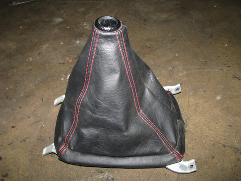 JDM HONDA CIVIC TYPE-R EK SHIFT BOOT BLACK WITH RED STITCHING