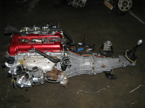JDM Nissan SR20DET S13 Red Top Engine and Transmission SR20 T28 Turbo Upgrade