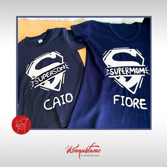 POLO SUPER MAN CON NOMBRE PERSONALIZABLE