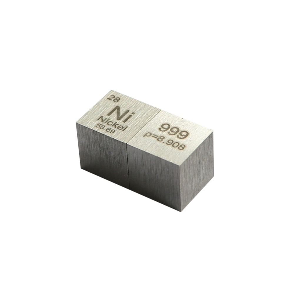 Five Metal Cube Set: Tungsten, Copper, Titanium, Niobium, Nickel Metal Cubes