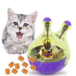 Tumbling Cat Feeding Toy Dispenser for Exercise & Play