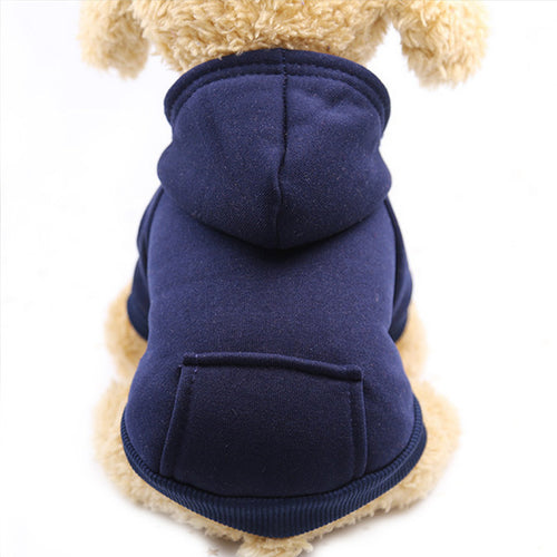 Dog Winter Plain Hoodies