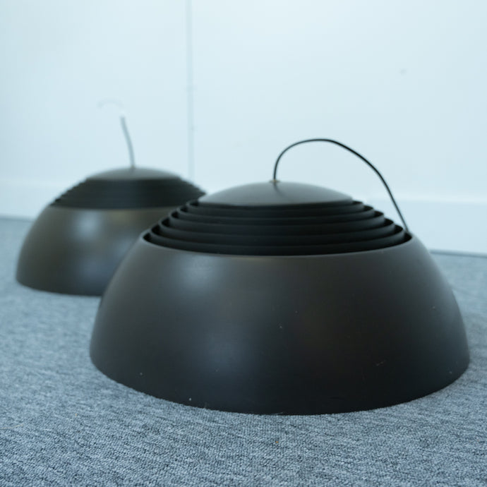 Pair of Royal hanging lamps by Arne Jacobsen for Louis Poulsen