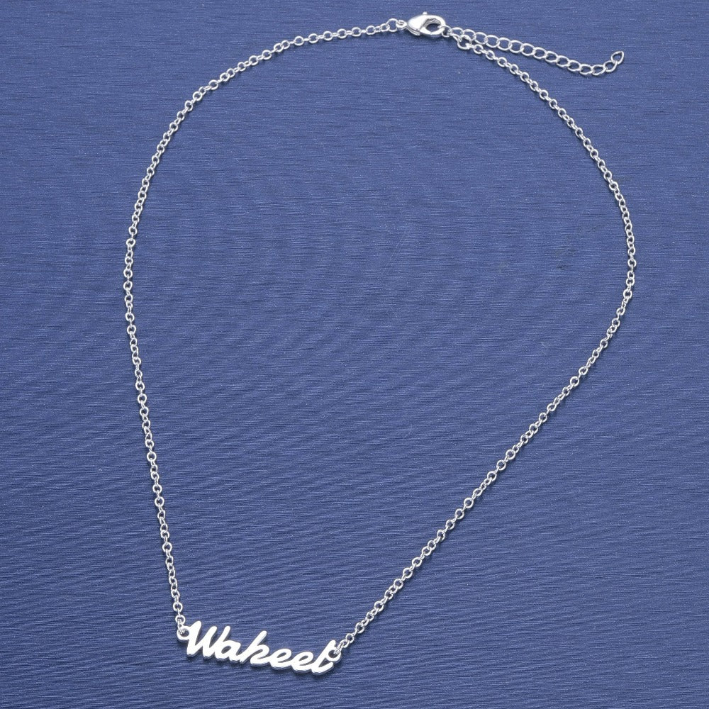 Custom name necklace Custom name necklace - dailypersonalized.comCJ Steel color