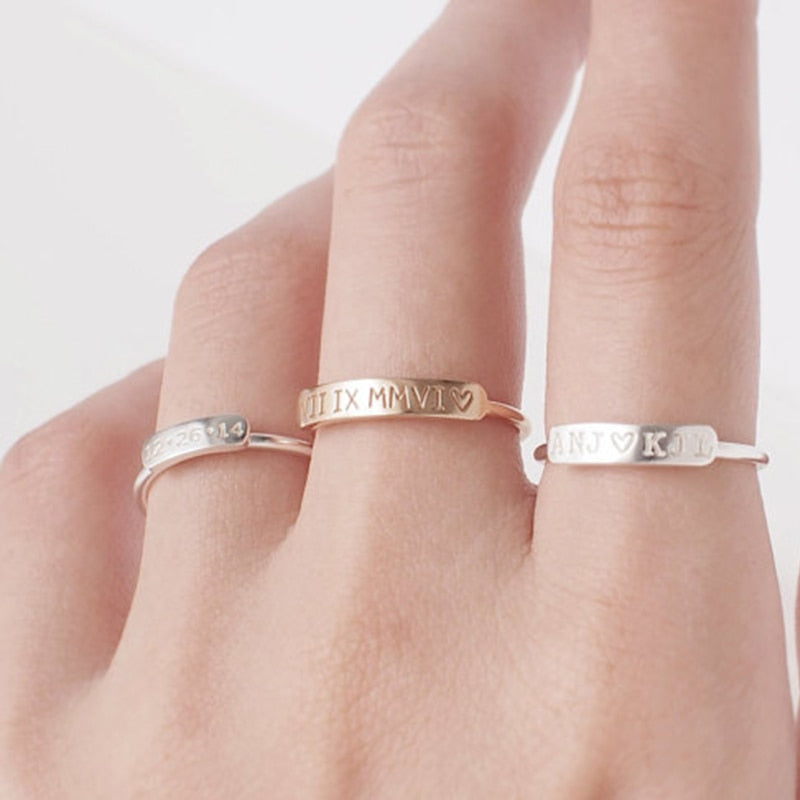 Personalized Engraved Ring Personalized Engraved Ring - dailypersonalized.comCAVSUAT Store