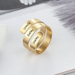 Personalized Adjustable 3 Name Rings Personalized Adjustable 3 Name Rings - dailypersonalized.comJewelOra