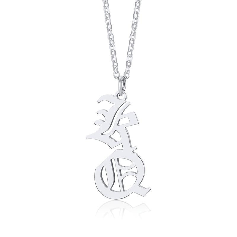 Double Initial Necklace Double Initial Necklace - dailypersonalized.comfshion for you Store