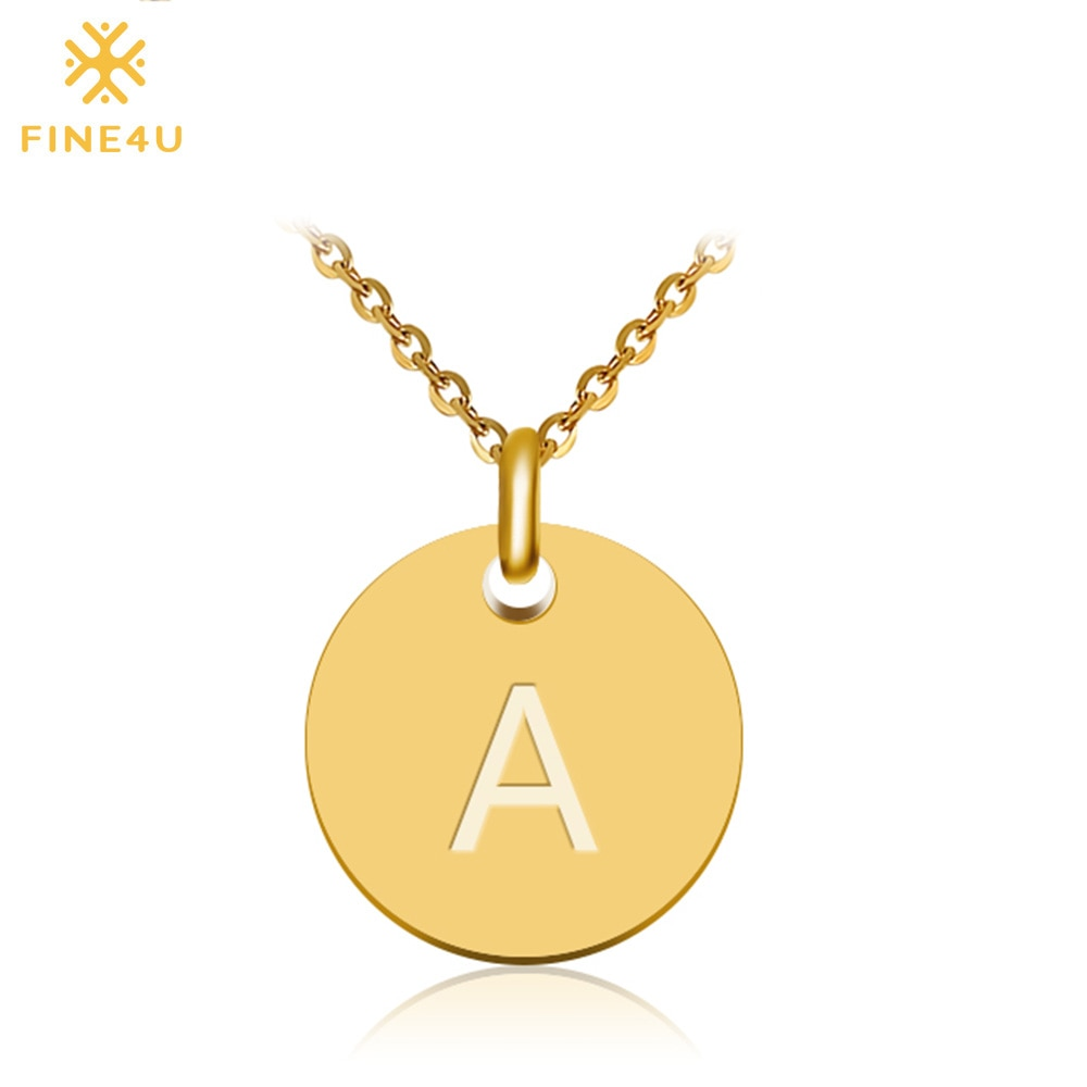 Disc Initial Necklace