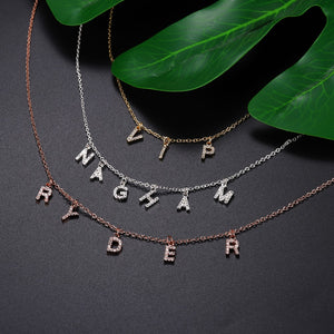 Personalized Zircon Name Necklaces