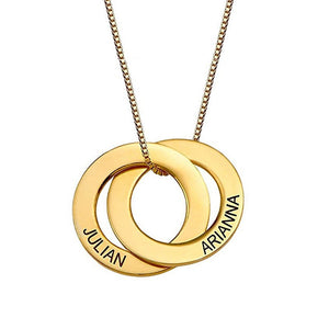 Personalized Russian Circle Necklace Personalized Russian Circle Necklace - dailypersonalized.comAmxiu Store 18K Gold Plated / 2 Disc / 35cm