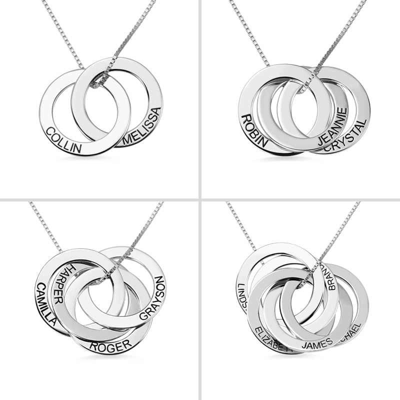Personalized Russian Circle Necklace Personalized Russian Circle Necklace - dailypersonalized.comAmxiu Store