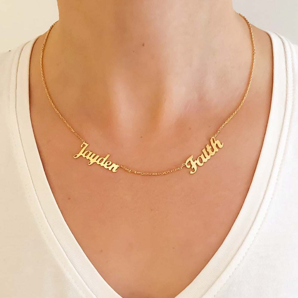 Personalized Multiple Name Necklaces
